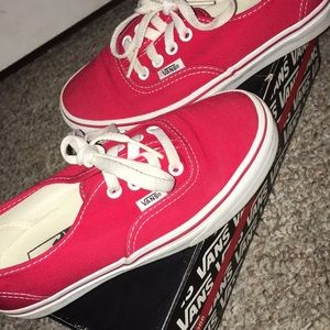 """Red Authentic low-top """"Vans Off The Wall"""""""